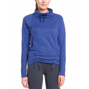 Lucy Cowl Neck Drawstring Pullover Workout Sweater